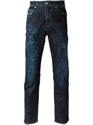 Levi's Made And Crafted Acid Washed Jeans Blue