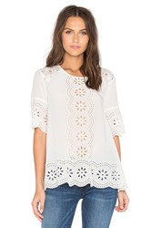 Kate Spade Embroidered Daisy Swing Top White
