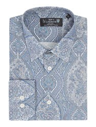 New And Lingwood Langham Large Paisley Print Shirt White