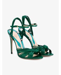Gucci Leather Knot Sandals Green