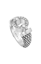 Lagos Women's 'Enso Circle Game' Diamond Caviar Ring