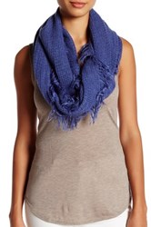 14Th And Union Frayed Knit Infinity Scarf Blue