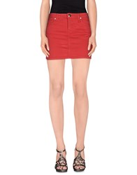 Fiorucci Denim Skirts Brick Red