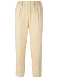 Forte Forte Cropped Trousers Nude And Neutrals
