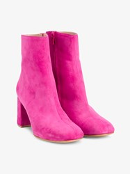 Maryam Nassir Zadeh Agnes Suede Ankle Boots Pink Denim