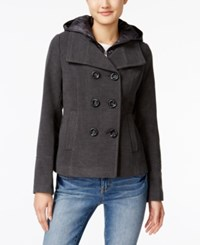 American Rag Hooded Peacoat Only At Macy's Charcoal