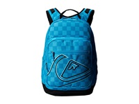 Quiksilver Schoolie Backpack Small Checks Cyan Backpack Bags Blue