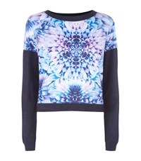 Juicy Couture Floral Print Sweatshirt Female Blue