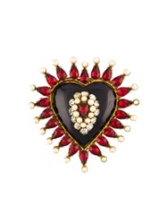 Chanel Vintage Heart Brooch Metallic