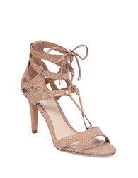 Vince Camuto Claran Caged Leather Sandals Light Brown