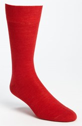Men's Lorenzo Uomo Merino Wool Blend Socks Red 3 For 30