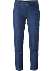 A.P.C. Cropped Slim Jeans Blue
