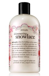 Philosophy 'Shimmering Snowlace' Shampoo Shower Gel And Bubble Bath