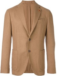 Lardini Tailored Blazer Nude And Neutrals