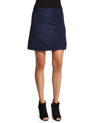 T By Alexander Wang Full Needle Knit A Line Skirt Marine