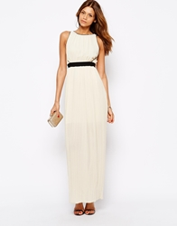 Arrogant Cat Grecian Style Maxi Dress Cream