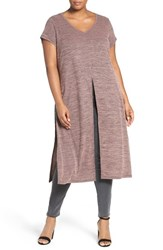 Mblm By Tess Holliday Plus Size Women's Slit Short Sleeve Tunic