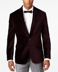 Ryan Seacrest Distinction Men's Slim Fit Purple Velvet Evening Jacket Only At Macy's
