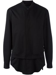 3.1 Phillip Lim Shirt Tail Bomber Jacket Black