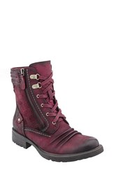 Earthr Women's Earth 'Summit' Lace Up Boot Wine Vintage Leather