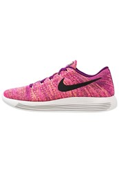 Nike Performance Lunarepic Flyknit Trainers Bright Grape Black Fire Pink Peach Cream Ghost Green