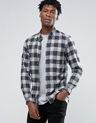 Pull And Bear Pullandbear Checked Shirt In Grey In Regular Fit Anth.Grey