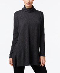 Eileen Fisher Turtleneck Tunic Sweater Charcoal