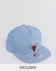 Mitchell And Ness Snapback Cap Chicago Bulls Exclusive To Asos Blue