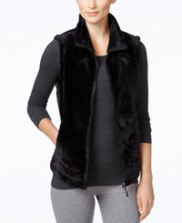 Ideology Lux Faux Fur Vest Only At Macy's Black