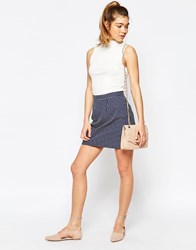 Sugarhill Boutique Hayley Skirt In Spot Jacquard Blue