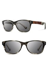 Men's Shwood 'Cannon' 54Mm Polarized Acetate And Wood Sunglasses Grey Elm Bur Grey
