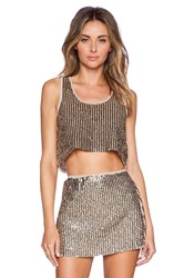 Raga Glitz And Glam Crop Top Taupe