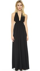 Jill Stuart V Neck Gown Black