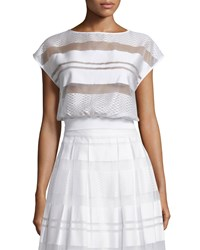 Erin Fetherston Vista Sheer Striped Top Ivory Women's