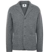 Nn.07 Grey Wallace Slim Fit Boiled Wool Blazer Gray