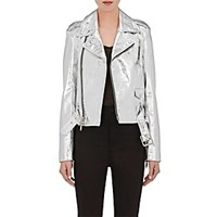 Bentaverniti Unravel Project Women's Lace Up Moto Jacket Silver