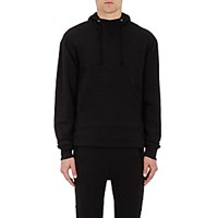 John Elliott Men's Kake Cotton French Terry Oversized Hoodie Blue