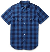Alex Mill Buffalo Checked Cotton Shirt Blue