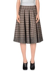 Erika Cavallini Semi Couture Erika Cavallini Semicouture Knee Length Skirts Grey