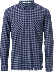Bedwin And The Heartbreakers Checked Shirt Blue