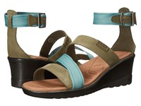 Keen Skyline Ankle Wedge Mineral Blue Women's Wedge Shoes