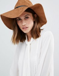 Vero Moda Fedora Hat Tan Brown