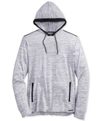Univibe Men's Men's Check Long Sleeve Hoodie Shirt Grey Multi
