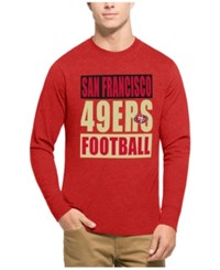 47 Brand '47 Men's San Francisco 49Ers Compton Club Long Sleeve T Shirt Heather Red Gold
