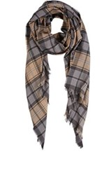 Colombo Men's Plaid Twill Scarf Grey