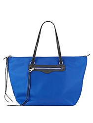 Rebecca Minkoff Ez Zip Nylon And Leather Tote Cobalt