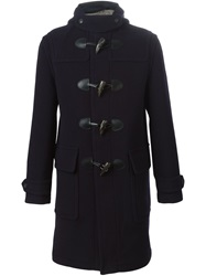 Burberry Brit Hooded Duffle Coat Blue