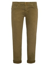 Current Elliott The Fling Low Slung Slim Leg Jeans Khaki