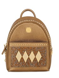 Mcm Stark Kristall Textured Leather Backpack