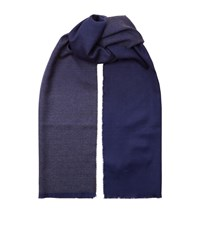 Harrods Of London Ombre Reversible Scarf Unisex Blue